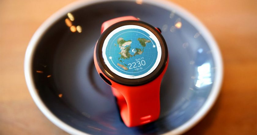 Flat Earth on Your Wrist